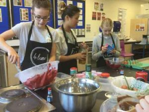 Cooking during a half term club
