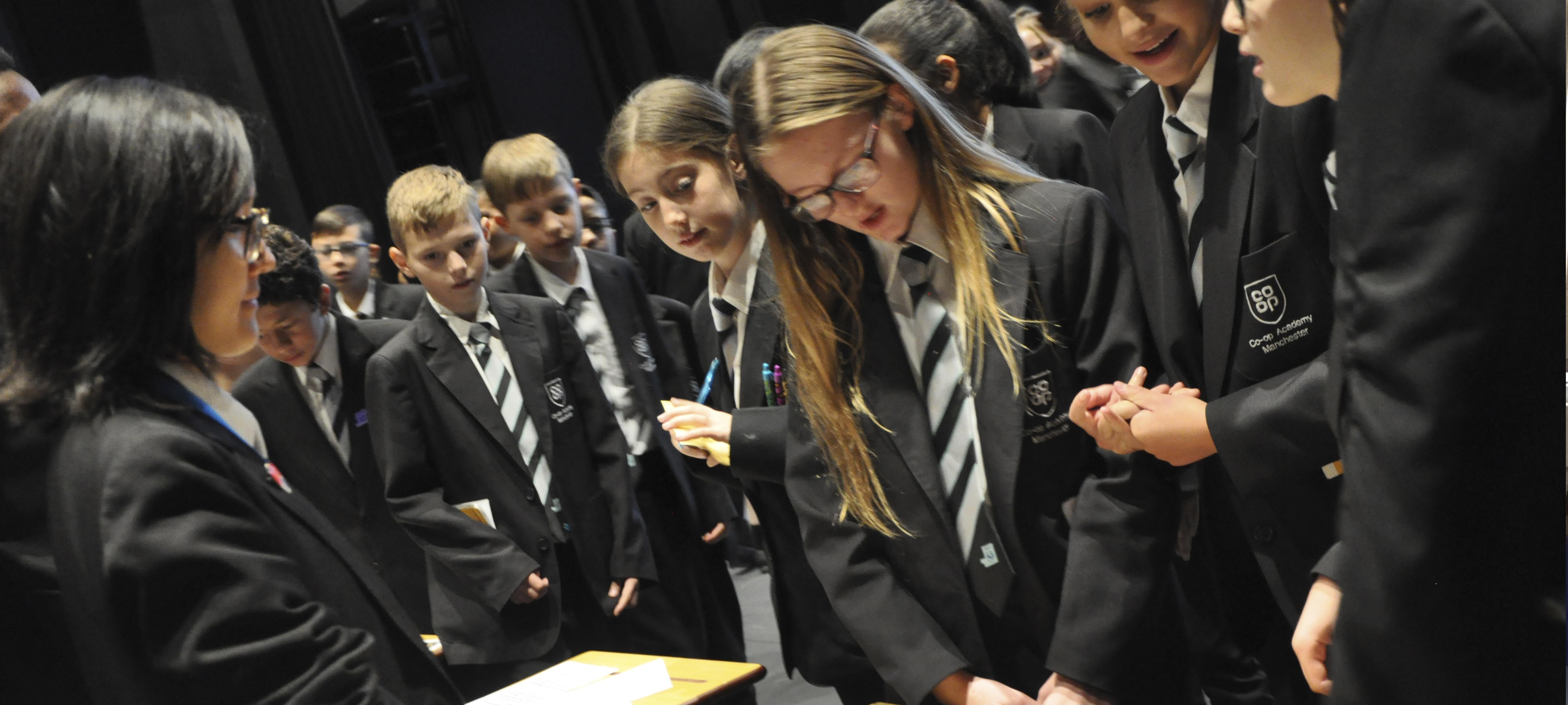 Students find out what clubs are on offer at the extra-curricular fair