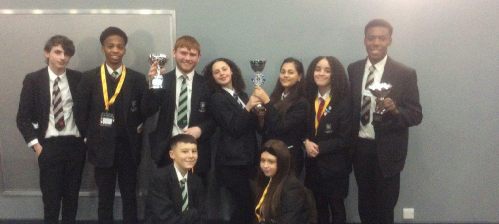 Down to business: enterprise students win not one, but two trophies in competition